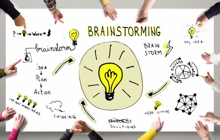 Brainstorming with groups can be more effective than individuals, if done correctly.