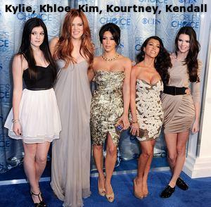 Kylie, Khloe, Kim, Kourtney and Kendall Kardashian