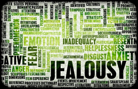 Jealousy word cloud